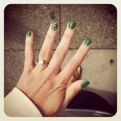 "St. Patrick's Day nails  via ""Lovely little details"""