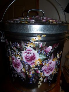 Arts by the Kickapoo: Painted Trash Can