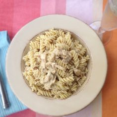 rotelle pasta with champagne sauce homemakerchic.com