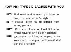 #MBTI IN Disagreeing With You <<INTP