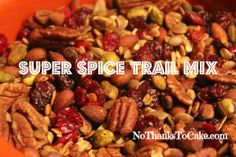 Super Spice Trail Mix recipe from McCormick and an amazing healthy snack!