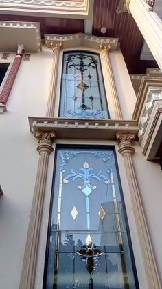 Etched Glass Door, Frosted Glass Door, Stained Glass Door, Glass Etching Designs, Glass Painting Designs, Paint Designs, Window Glass Design, Window Grill Design, Wooden Main Door Design