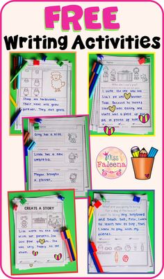 This resource containss 8 pages of writing worksheets. This product is suitable for kindergarten through second grade students. These pages can be used for morning work, literacy centers, and writing centers. Narrative Writing Prompts, Expository Writing, Picture Writing Prompts, Informational Writing, Writing Skills, Writing Centers, Literacy Centers, Kindergarten Centers, Preschool Literacy