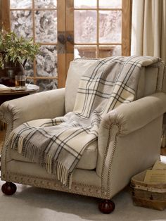 75eb4e8d2fdd Comfy Chair and Alpine Lodge Plaid Blanket