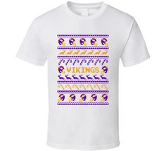 Vikings Football Ugly Christmas Sweater T Shirt - Minnesota Vikings Team Colors #MinnesotaVikings,#Minnesota,#Vikings,#Christmas,#UglySweater,#Football,#Gift,#FootballSweater,#VikingsSweater
