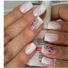 Silver Nails, Glam Nails, Fancy Nails, White Nails, Toe Nails, Pink Nails, Beauty Nails, Fingernail Designs, Nail Polish Designs