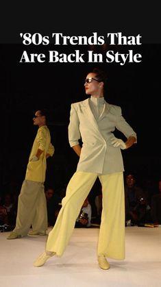 Fashion Over 50, 80s Fashion, Fashion History, Denim Fashion, Fashion Beauty, Fashion Show, Fashion Trends, 80s Trends, Monochrome Fashion