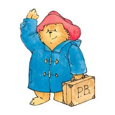 One of the original Paddington illustrations! Paddington somehow doesn't look like he's aged a day. | Paddington