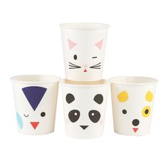 Vasos de papel pequeños animales 200 ml - My Little Day Birthday Plate, Baby Boy 1st Birthday, 1st Birthday Party Supplies, 1st Birthday Parties, Birthday Ideas, Jumbo Balloons, Party Bunting, Polka Dot Paper, Recycling