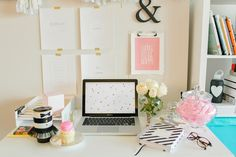 We love how Marissa Cristina of Design Love Planner styles an office! So chic! {Photography by Christine Williams}