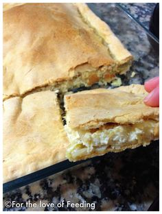 Cheese Pie with Homemade Filo Pastry | For the Love of Feeding