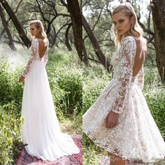 Limor Rosen 2017 Garden Overskirts Wedding Dresses Bateau Long Sleeve A Line Hi Lo Backlesses Full Lace Beads Unique Romantic Bridal Gowns A-Line Wedding Dresses 2016 Wedding Dresses Lace Wedding Dresses Online with $134.86/Piece on Olesa's Store | DHgate.com