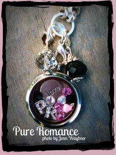 Pure Romance locket https://www.facebook.com/OOIndependentDesignerKimMichels #pureromance #dangles #locket #charming