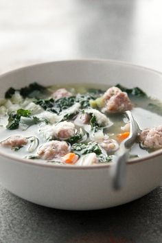 Pin for Later: No Worms or Eyeballs in This Adults-Only Halloween Menu Italian Sausage, Kale, and White Bean Soup Soup can curb hunger as guests trickle in. Let guests ladle this seasonal sausage, kale, and white bean soup into small bowls or coffee mugs.