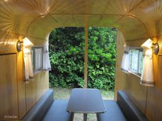 An old horse trailer, transformed into a cozy yellow camper! Horse Stalls, Horse Barns, Horses, Tiny Camper Trailer, Cargo Trailer Conversion, Towing Vehicle, Park Model Homes, Natural Horsemanship, Horse Trailers