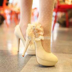 花優雅なスティレットヒール足女性プロム靴