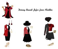 """Disney Bound: Jafar from Aladdin"" by the-shadowrider ❤ liked on Polyvore featuring Miss Selfridge, Gucci, LE3NO, Francis Leon, Elorie, adidas, rag & bone, Annoushka, Jules Smith and Natalie B"