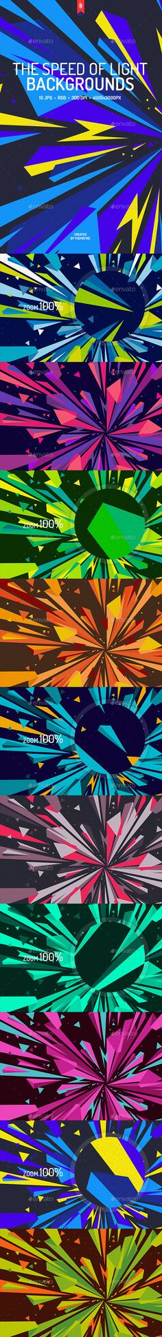 The Speed of Light Backgrounds by themefire This pack contains 10 jpg abstract flat speed of light backgrounds for your projects. You can use these backgrounds in the differe