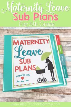 Maternity leave sub