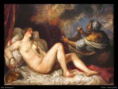 Tiziano - Particolare Danae e la pioggia d'oro 1531