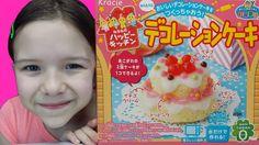 Kracie Popin Cookin Happy Kitchen DIY Cake Kit! Kid Candy Review