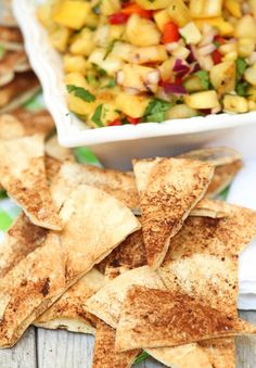 These were so good and cheap to make! Cinnamon Baked Pita Chips Low Calorie, Low Fat, Healthy Snack