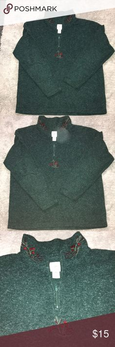A victoria secret country half zip up A victoria secret country half zip up in green with a glower embroidery its such a cute zip up in excellent condition so soft and warm for this weather i accept offers Victoria's Secret Sweaters Cowl & Turtlenecks