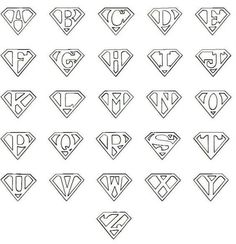 Superman Logo Printable Template