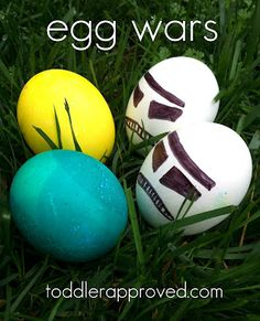 Egg Wars. A family tradition/competition at Easter time. Do you have any favorite Easter traditions that you celebrate each year?
