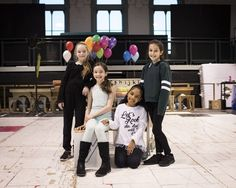 Royal Shakespeare Company production of Matilda The Musical - Emma Moore, Abbie Vena, eva-Marie Saffrey and Lilian Hardy (L-R). Credit - Helen Maybanks