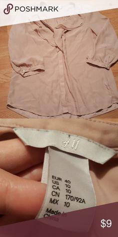 H&M Blouse H&M Blouse. Light pink. Size 10  Ruffles. EUC. H&M Tops Blouses