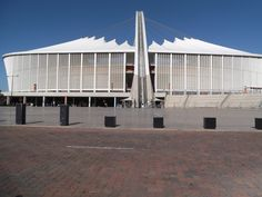 The Moses Madiba stadium in Durban where Hilary and I went on vacation for a couple of days