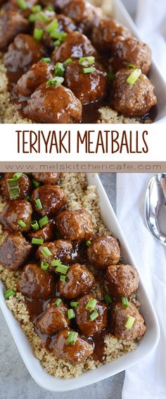 Skillet Teriyaki Meatballs