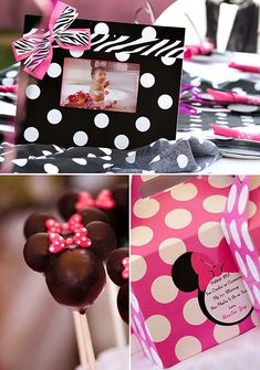 Polka Dot & Pink Minnie Mouse First Birthday Party