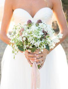 camp inspired wedding bouquet