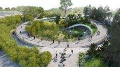 Giant pandas due to move to Copenhagen Zoo will make their home in a circular indoor-outdoor enclosure designed by Bjarke Ingels Group.