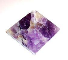 "Amazing Large 80mm 3"" SweetAmethyst Quartz Aura Healing Pyramid Reiki Gemstone"