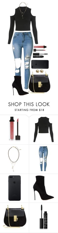 """""""Untitled #1593"""" by fabianarveloc on Polyvore featuring Jouer, Miss Selfridge, Loren Olivia, Casadei, Chloé, NARS Cosmetics and Chanel"""
