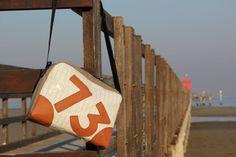 Borsa a tracolla in laminato, tessuto nautico e pelle - Bolina Sail