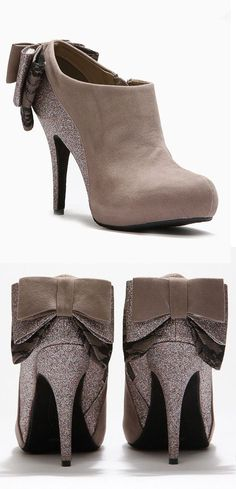 Shimmer Bow Booties