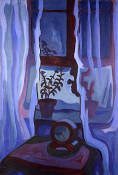 "amare-habeo: ""karl schmidt-rottluff (german, 1884 - blue window (blaues fenster), n/d "" Berlin Museum, Ernst Ludwig Kirchner, Emil Nolde, Max Beckmann, Wassily Kandinsky, Ludwig Meidner, Karl Schmidt Rottluff, James Ensor, Dibujo"
