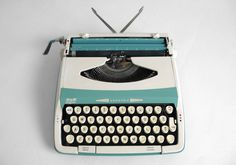 Vintage Seafoam Smith Corona Typewriter
