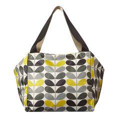 Grey/Yellow Tonal Stem Large Box Bag - Orla Kiely Accessories - Private sales | BrandAlley