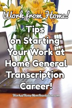 Tips on starting a work at home general transcription career, as well as a list of 10 companies hiring home-based transcriptionists and helpful resources. You can make money from home! Work From Home Moms, Make Money From Home, Way To Make Money, Successful Home Business, Home Based Business, Business Ideas, Online Business, Home Websites, City Works