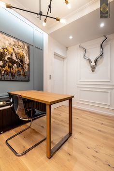 Modern Classic, Home Office, Dining Table, Studio, Wood, Panelling, Furniture, Home Decor, Art