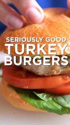 Seriously Good Turkey Burgers How to make tasty, healthy and juicy turkey burgers! Thanks to our secret ingredient, these burgers are loaded with umami and won't dry out. Homemade Turkey Burgers, Ground Turkey Burgers, Best Turkey Burgers, Turkey Burger Recipes, Turkey Burger Sliders, Grilled Turkey Burgers, Beef Burgers, Hamburger Recipes, Veggie Burgers
