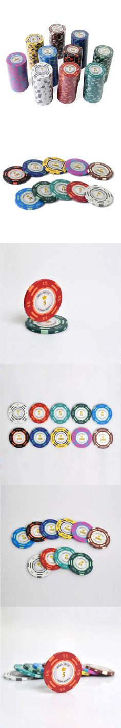High Quality Clay 14g US Dollar Texas Holdem Poker Chips Set Windmill Style, Casino Baccarat Chips