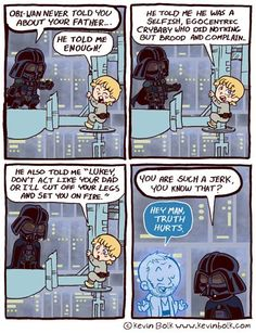 Star Wars cartoon! Funny how a couple words could have changed the whole story :P