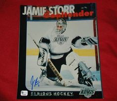 Jamie Storr Autographed L.A. Kings hockey 8x10 photo with COA + FREE SHIPPING!