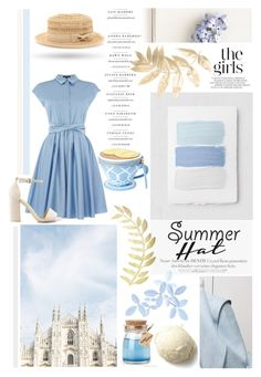 """""""♠ Summertime"""" by paty ❤ liked on Polyvore featuring Bebe, Tara Jarmon, Kate Spade, Nly Shoes, Tommy Mitchell and summerhat"""